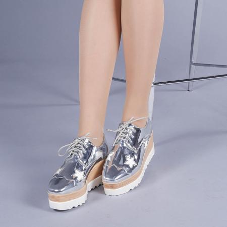 Pantofi casual dama Ramya argintii2