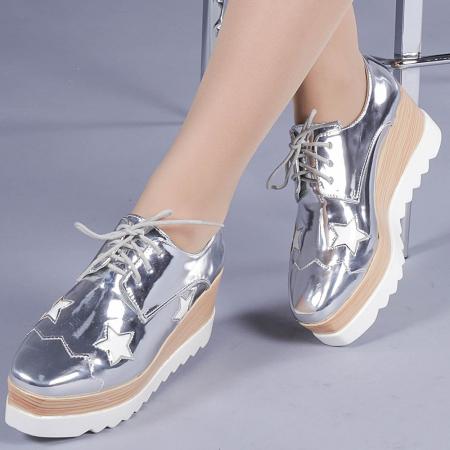 Pantofi casual dama Ramya argintii0