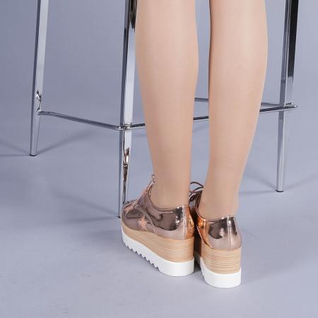 Pantofi casual dama Ramya champanie3