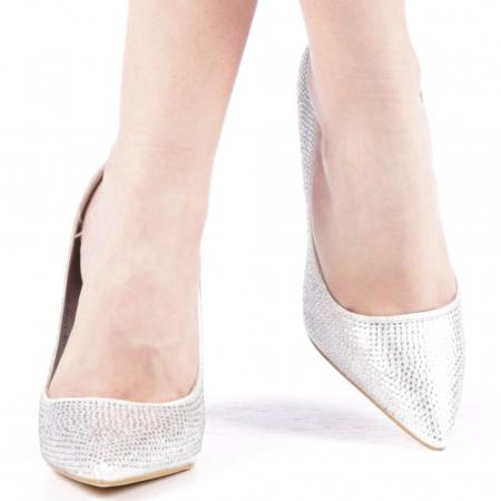 Pantofi dama Adripo argintii1