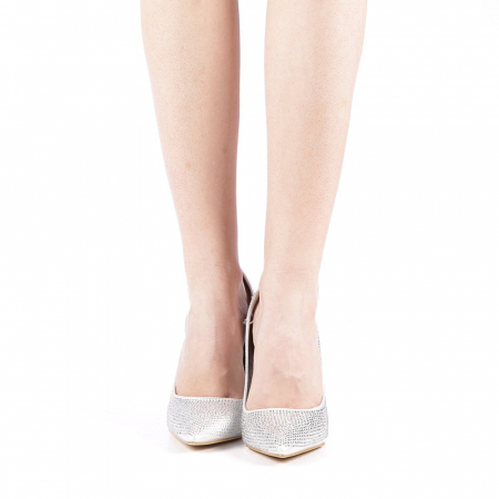 Pantofi dama Adripo argintii4