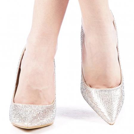 Pantofi dama Adripo aurii1