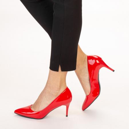 Pantofi dama Avice rosii2