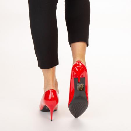 Pantofi dama Avice rosii3