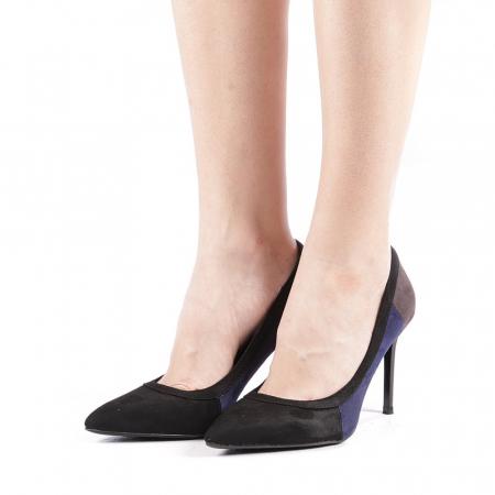 Pantofi dama Casandra gri1