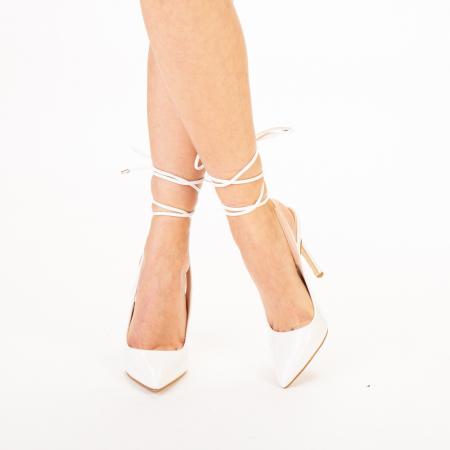 Pantofi dama Davina albi0