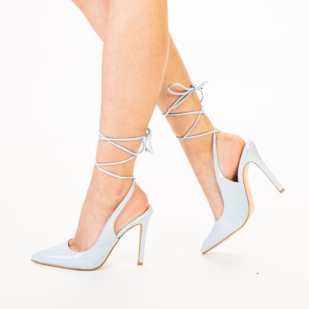 Pantofi dama Davina bleu1