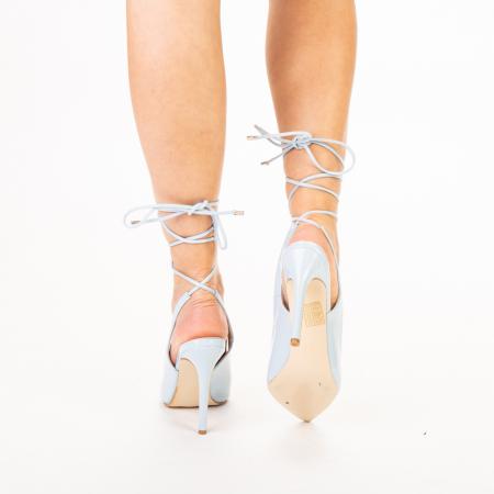 Pantofi dama Davina bleu3