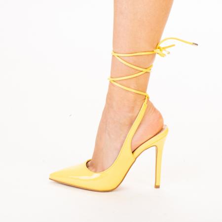 Pantofi dama Davina galbeni2