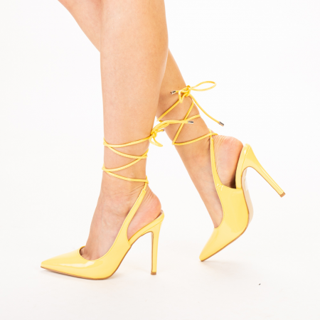 Pantofi dama Davina galbeni1