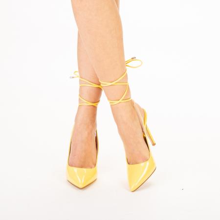 Pantofi dama Davina galbeni0