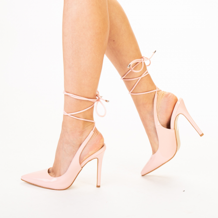 Pantofi dama Davina roz1