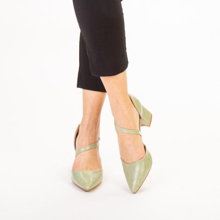 Pantofi dama Dayna verzi1
