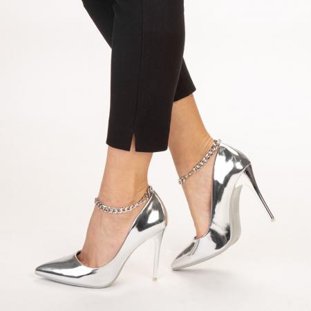 Pantofi dama Delir argintii2
