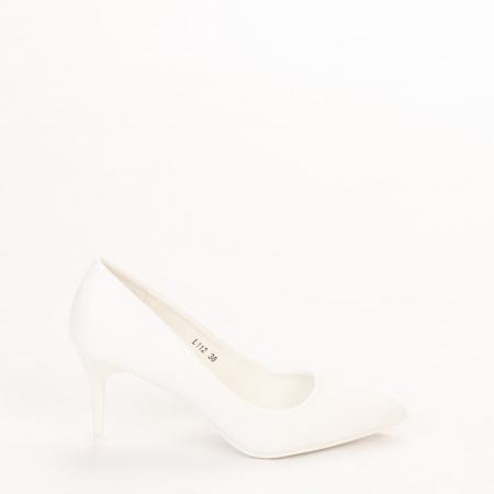 Pantofi dama Delora albi0