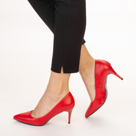 Pantofi dama Delora rosii2