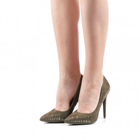 Pantofi dama Dena verzi2