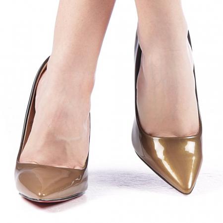 Pantofi dama Dillon aurii1