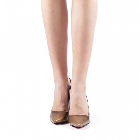 Pantofi dama Dillon aurii4