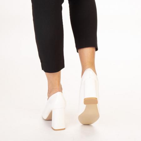Pantofi dama Eloisa albi3