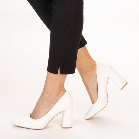 Pantofi dama Eloisa albi2