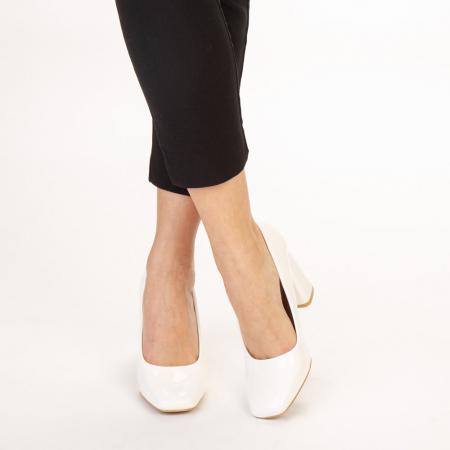 Pantofi dama Eloisa albi1