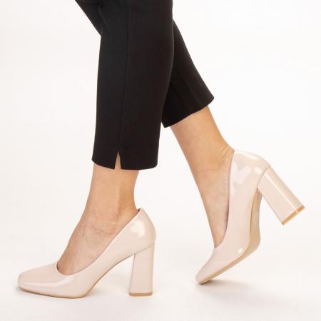 Pantofi dama Eloisa bej2