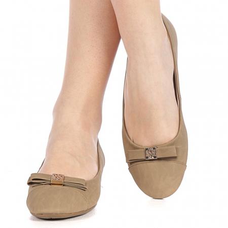 Pantofi dama Gheraso khaki1