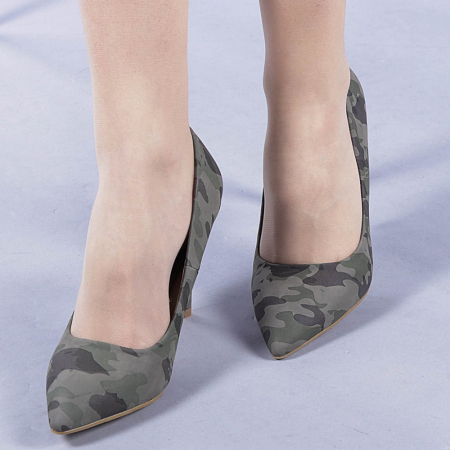 Pantofi dama Ginger verzi0