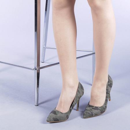 Pantofi dama Ginger verzi2