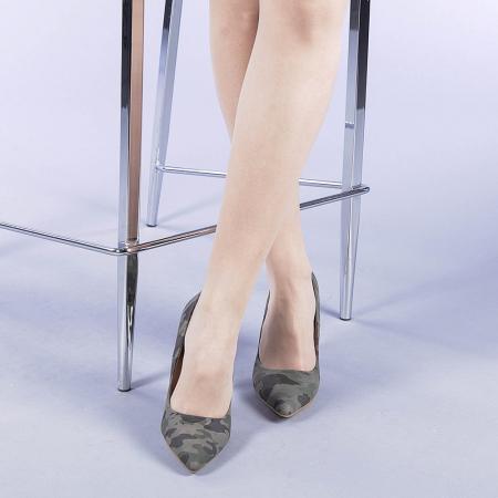Pantofi dama Ginger verzi1