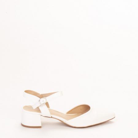 Pantofi dama Leela albi0