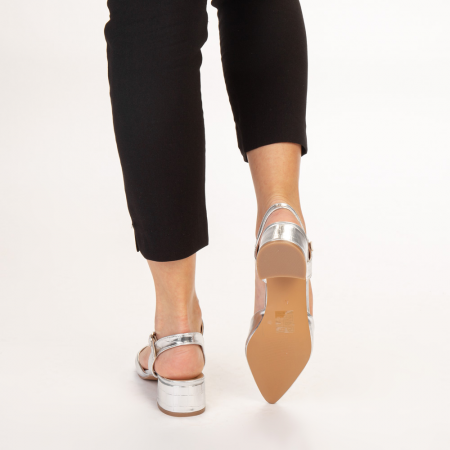 Pantofi dama Leela argintii3