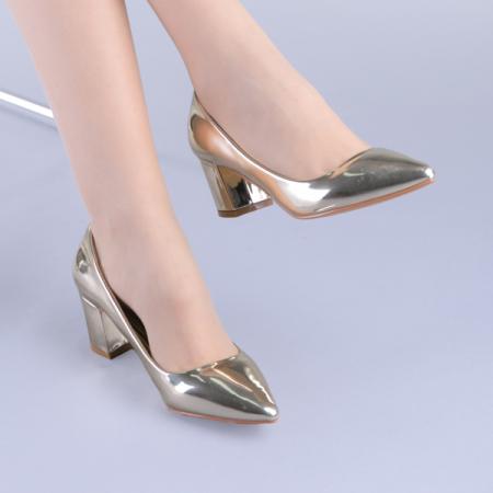 Pantofi dama Mirela aurii1