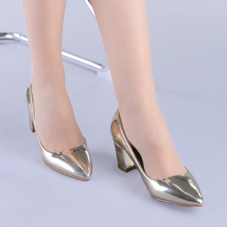 Pantofi dama Mirela aurii4