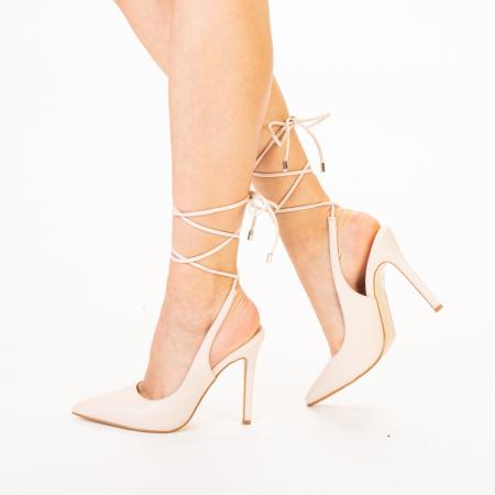 Pantofi dama Neiva bej1