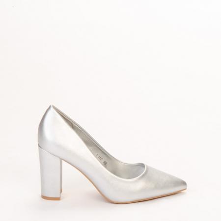 Pantofi dama Nelda argintii0