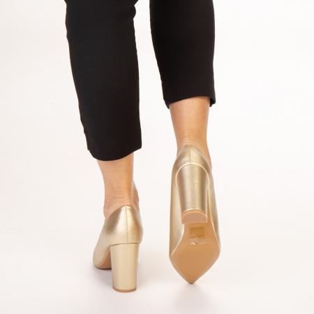 Pantofi dama Nelda aurii3