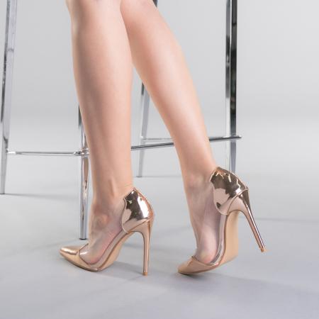 Pantofi dama Pamela champanie3