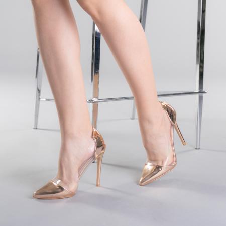 Pantofi dama Pamela champanie2