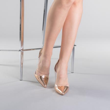 Pantofi dama Pamela champanie1
