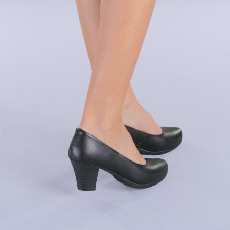 Pantofi dama piele Seea negri1