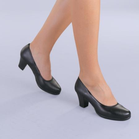 Pantofi dama piele Seea negri3