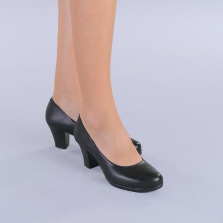 Pantofi dama piele Seea negri2