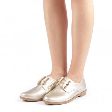 Pantofi dama Radmila aurii1