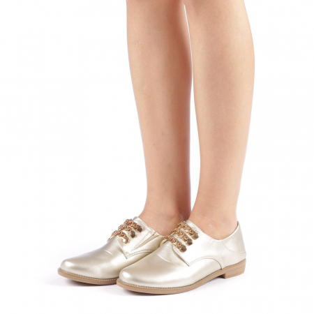 Pantofi dama Rafila aurii1
