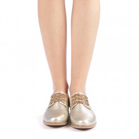 Pantofi dama Rafila aurii3