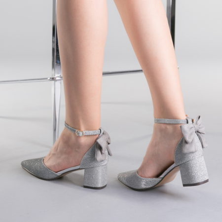 Pantofi dama Roxanne argintii3
