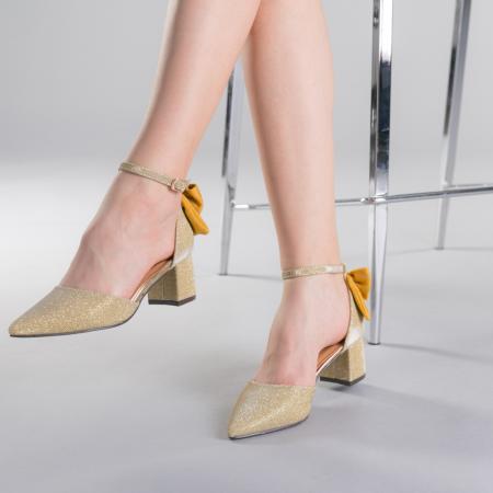 Pantofi dama Roxanne aurii2