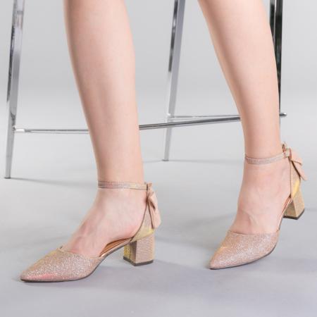 Pantofi dama Roxanne champanie0